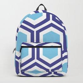 Honeycomb Blue Backpack