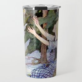 """""""The Little Match Girl"""" Vintage Art by Anne Anderson Travel Mug"""