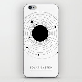 The Solar System (with Pluto) iPhone Skin