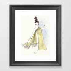 'Alice' Watercolor Fashion Illustration Framed Art Print