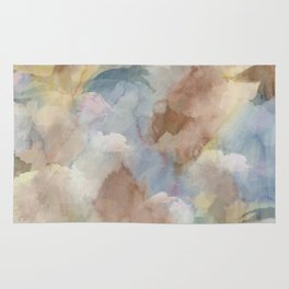 Earth Color Watercolor Abstract Rug