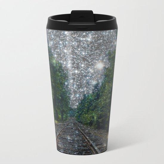 Train Tracks Dream Metal Travel Mug