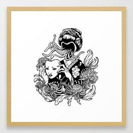 Kabuki Krysanthemums Framed Art Print