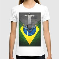 brazil T-shirts featuring Flags - Brazil by Ale Ibanez