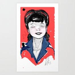 Pin Up Hapiness Art Print