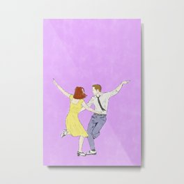 La La Land - Watercolor Metal Print