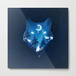 Moon Wolves Metal Print