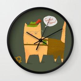 Oktoberfest Kitty Wall Clock