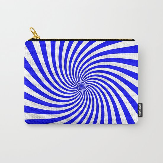 Swirl (Blue/White) Carry-All Pouch