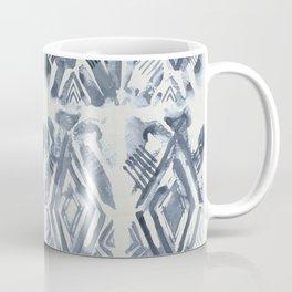 Simply Ikat Ink in Indigo Blue on Lunar Gray Coffee Mug