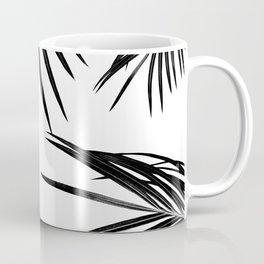 Black Palm Leaves Dream #1 #tropical #decor #art #society6 Coffee Mug