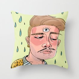Sad Enlightenment Throw Pillow