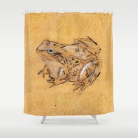 frog Shower Curtains featuring Frog by Nadezhda Shoshina