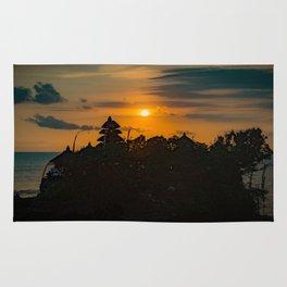 Tanah Lot Sunset Rug