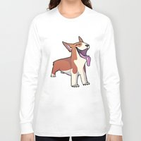 corgi Long Sleeve T-shirts featuring Corgi by Suzanne Annaars