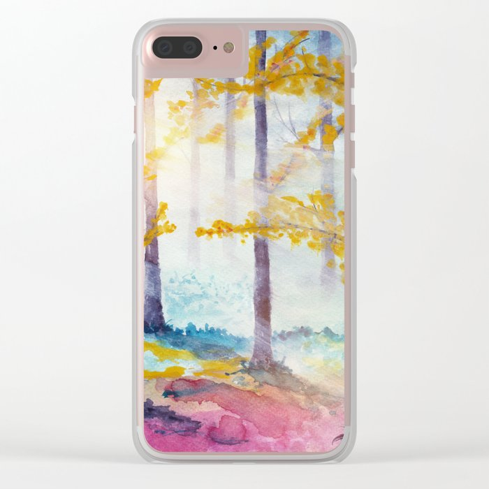 Into The Forest VI Clear iPhone Case