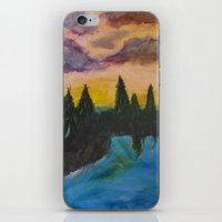 maine iPhone & iPod Skins featuring Maine by Lissasdesigns