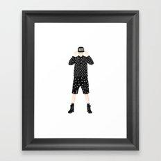 E-V-I-S-U Framed Art Print