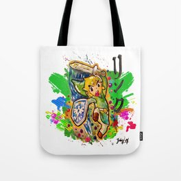 Original - Link - Watercolor Poster Painting - Legend of Zelda Tote Bag