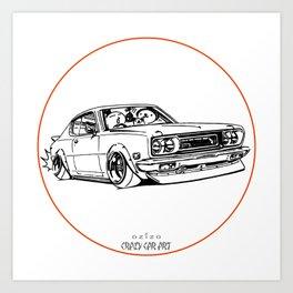 Crazy Car Art 0197 Art Print