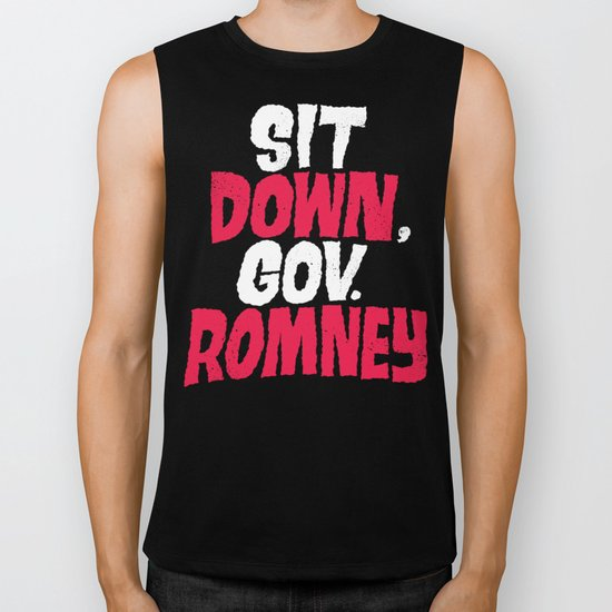 Sit Down, Gov. Romney. Biker Tank