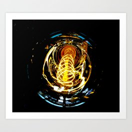 Industrial Filament Light Art Print