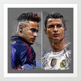 neymar jr and cristiano ronaldo Art Print