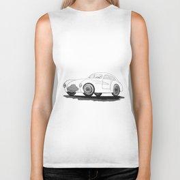 retro car on white background Biker Tank