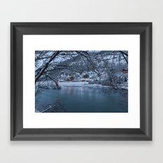 Below Zero  Framed Art Print