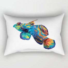 Geometric Abstract Mandarin Dragonette Goby Rectangular Pillow
