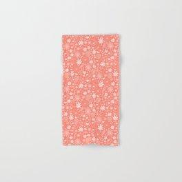 Coral Pink Florals Hand & Bath Towel