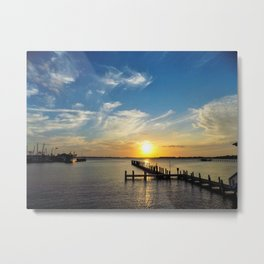 Sunset Blue Skies Metal Print