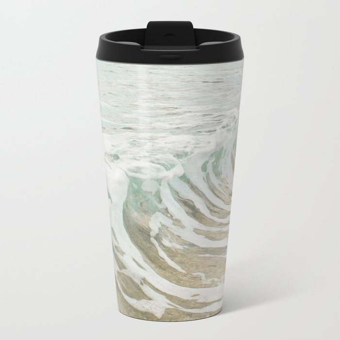 Sea Foam Metal Travel Mug