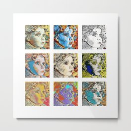 Nine Doll Faces Metal Print