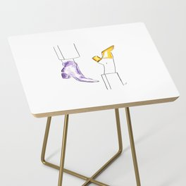 Watercolor Shoes Side Table