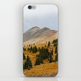 Autumn in the mountains iPhone Skin