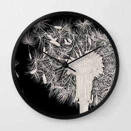 Dandelion in the wind Wall Clock