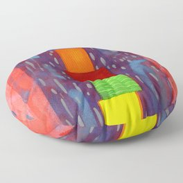 Colorful piled Cubes within free Painting Floor Pillow