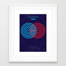 No357 My TRON minimal movie poster Framed Art Print