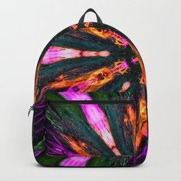 abstract flower mandala Backpack