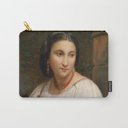 """William-Adolphe Bouguereau """"Portrait of a young Roman"""" Carry-All Pouch"""
