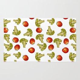 Broccoli and tomato Rug