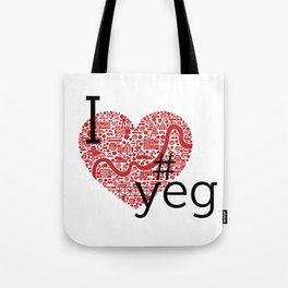 I Heart #YEG Tote Bag