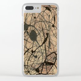 Pollock Inspired Cool Abstract Splatter Drip Painting Clear iPhone Case