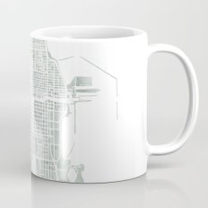 Map Chicago city watercolor map Coffee Mug