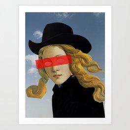 Das Mädchen mit dem Hut Art Print
