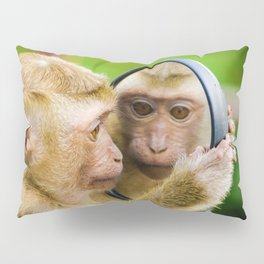 Monkey Mirror (Color) Pillow Sham