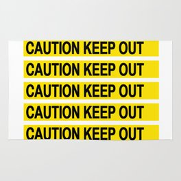 Caution Keep Out Rug