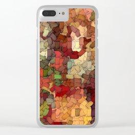 Autumn Inspired Torn Scraps 2492 Clear iPhone Case