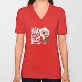 Everything Is Better With A Monkey Too Unisex V-Neck